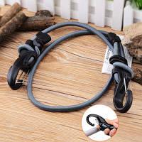 KBB9-03-01 Регулируемая Банджи веревку с карабином черный и серый