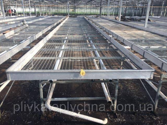 Стеллажи передвижние и стационарние под систему полива и выращивания цветов и рассады
