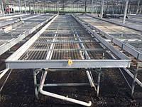 Стеллажи передвижние и стационарние под систему полива и выращивания цветов и рассады, фото 1