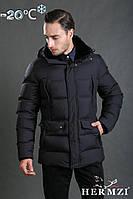 Мужская зимняя куртка, классическая модель, с натуральным мехом кролика на воротнике