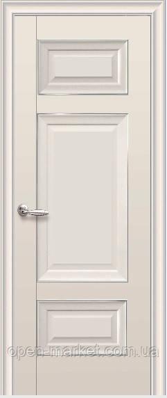 Дверне полотно Шарм Глухе з молдингом Капучіно