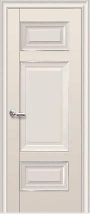 Дверне полотно Шарм Глухе з молдингом Капучіно, фото 2
