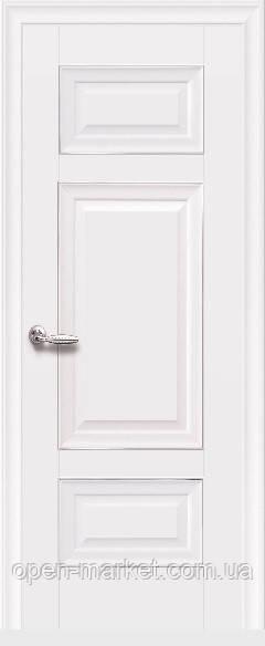 Дверное полотно Шарм Глухое с молдингом белый матовый