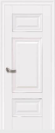Дверное полотно Шарм Глухое с молдингом белый матовый, фото 2