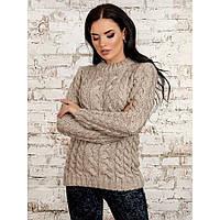 Теплый свитер женский обьемная вязка p.42-46 P30227-1