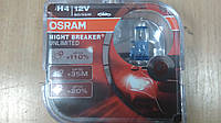"""Лампа галогеновая H4 12V 60/55W 43 цоколь """"OSRAM"""" +110% Night Breaker Unlimited OS 64193 NBU - Германия"""