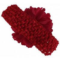 Повязка для волос с пионом для девочки Красный