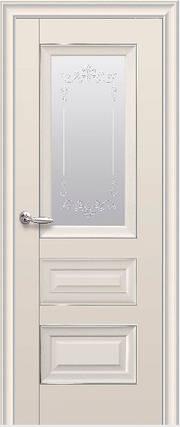 Дверное полотно Статус со стеклом и молдингом Капучино, фото 2