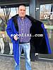 Мужское пальто из итальянского кашемира, мех внутри аукционный бобер,воротник-норка