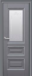 Дверное полотно Статус со стеклом и молдингом Антрацит