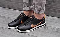 Кроссовки мужские Nike Cortez Ultra (черные/коричневые), ТОП-реплика