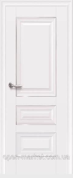 Дверное полотно Статус Глухое с молдингом белый матовый