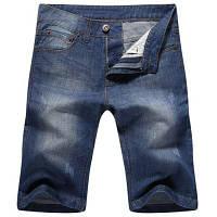 Повседневный прямые ноги молния джинсовые шорты для мужчин 30