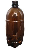Бутылка ПЭТ бочонок коричневая 1 л.