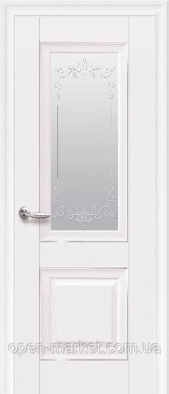 Дверное полотно Имидж Глухое с молдингом белый матовый