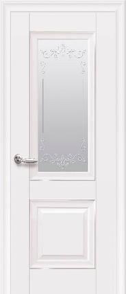 Дверное полотно Имидж Глухое с молдингом белый матовый, фото 2