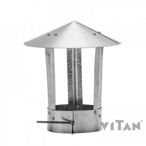 Зонт вентиляционный цинк. 160, фото 2