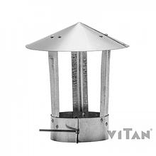 Зонт вентиляционный цинк 90-100