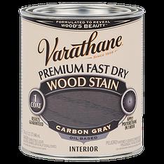 Морилка для дерева Varathane, цвет тёмно-серый (Carbon Gray), банка 0,946 л
