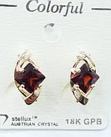 156 Ювелирная позолоченная бижутерия- янтарные серьги- позолота Colorful оптом, Одесса 7 км.