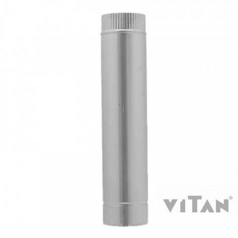 Труба вентиляционная цинк. Вставка трубы дл.0,5м 105, фото 2