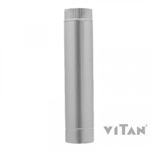 Труба вентиляционная цинк. Вставка трубы дл.0,5м 125