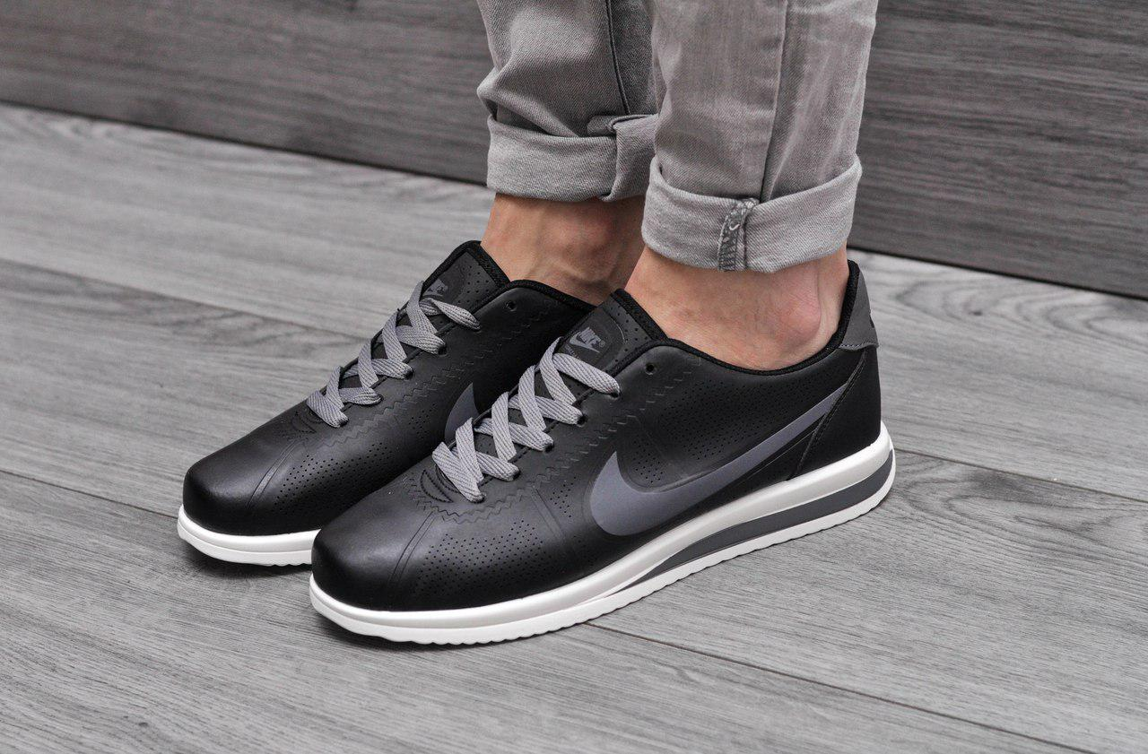 Кроссовки мужские Nike Cortez Ultra (черные), ТОП-реплика