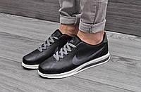 Кроссовки мужские Nike Cortez Ultra (черные), ТОП-реплика, фото 1