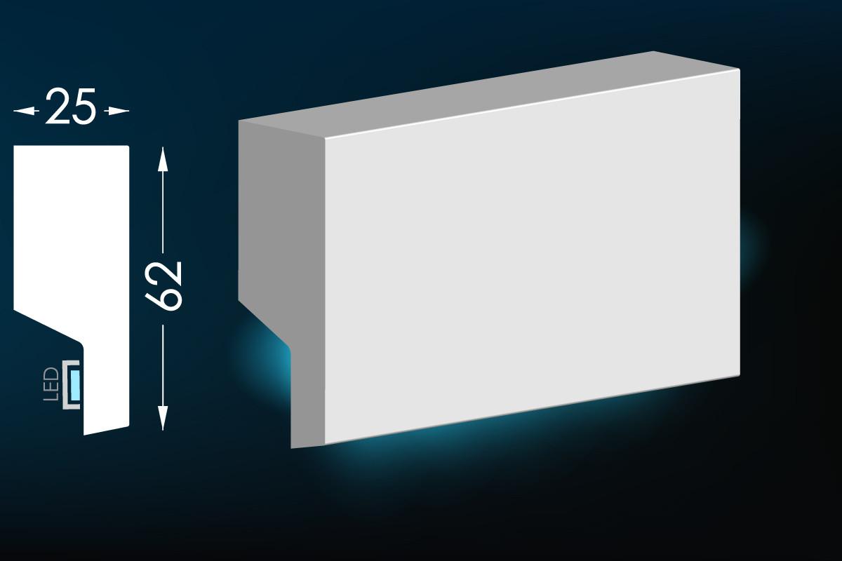 Карниз для прихованого освітлення Мс-18