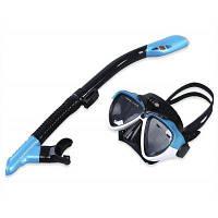 Плавание подводное плавание Анти-туман очки маска для подводного плавания набор Синий