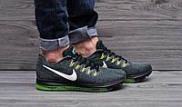 Стильные мужские кроссовки Nike zoom (зеленые) дышащие, ТОП-реплика