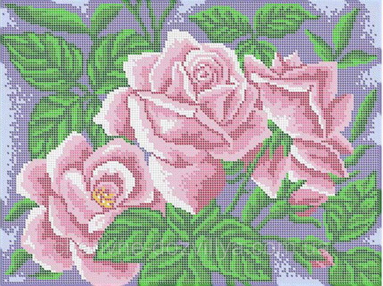 """Схема для вышивки бисером (бісером) на габардине """"Розы"""""""
