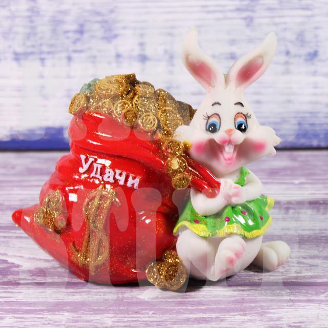 копилка заяц с мешком денег