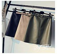 Женская шикарная кожанная юбка (4 цвета) , фото 1