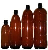 Бутылка ПЭТ росинка коричневая 1 л.