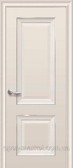 Дверное полотно Имидж Глухое с молдингом Капучино