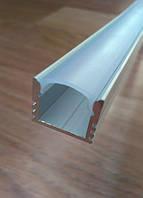 Накладной алюминиевый профиль для LED ленты глубокий + рассеиватель матовый или прозрачный