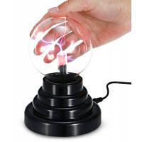 Magic LED Плазменный шар светильник с сенсорным датчиком 3-дюймовый красный + белый + фиолетовый