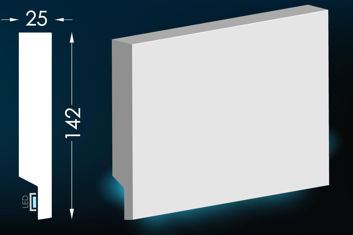 Карниз для прихованого освітлення Мс-20