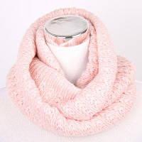 Зима Водолазка Витая Трикотажные Бесконечности Шарф Бледно-розовый