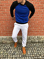 Зимний спортивный костюм мужской на флисе Nike Blue/White