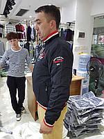 Мужская стильная куртка теплая весна/осень черная оптом
