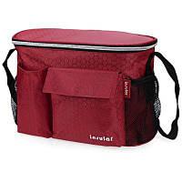 Однотонная водонепроницаемая сумка для мамы с сетчатыми карманами на коляску Красный