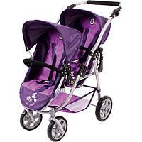 Коляска тандем для кукол для двойни фиолет Байер Tandem-Buggy Chic 2000 Bayer 68925