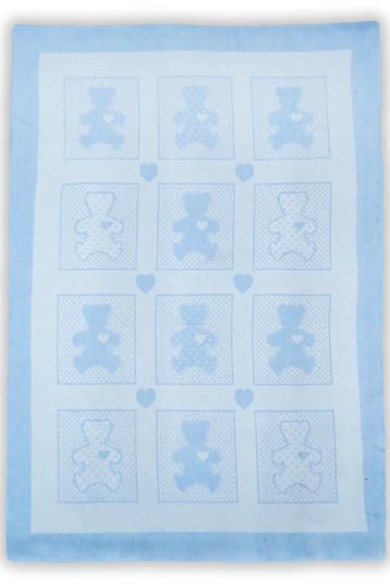 """Детское одеяло-плед Ковдра дит. """"Барні"""" 100*140 блакитний"""
