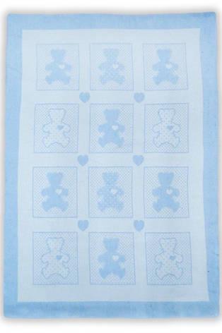 "Детское одеяло-плед Ковдра дит. ""Барні"" 100*140 блакитний, фото 2"
