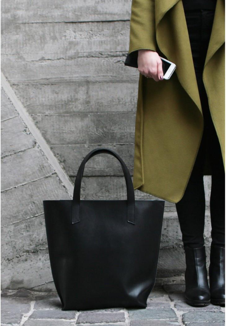 Кожаная женская сумка шопер D.D.