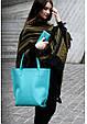 Кожаная женская сумка шопер D.D., фото 5