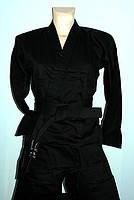 Кимоно для каратэ черное рост 160, 200 см плотность 240 г/м2