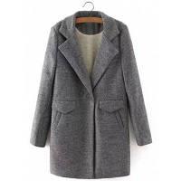 Двубортное шерстяное пальто S
